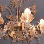 Lampadario in vetro di Murano - Appartamento Casanova
